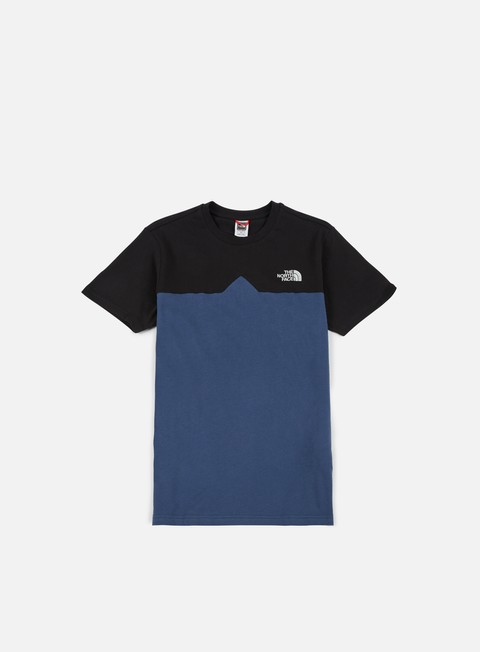 t shirt the north face west peak t shirt shady blue black