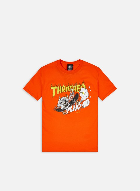 Short Sleeve T-shirts Thrasher 40 Years Neckface T-shirt