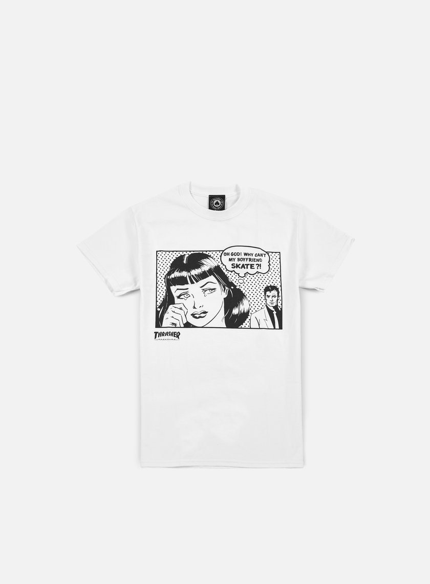 Thrasher - Boyfriend T-shirt, White