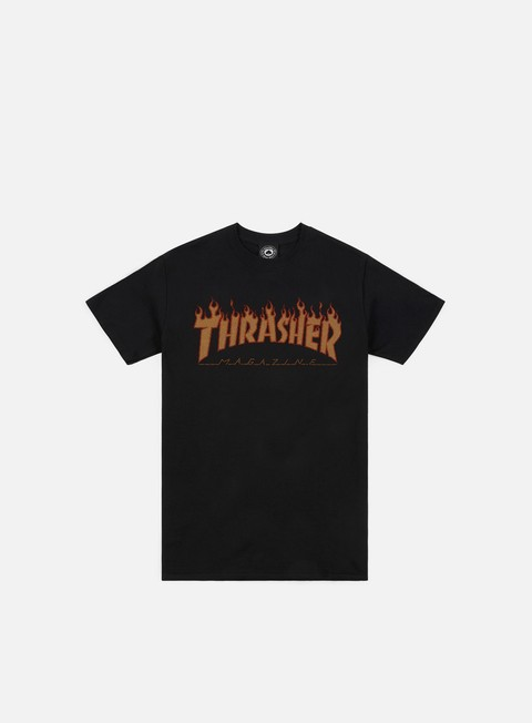 Short Sleeve T-shirts Thrasher Flame Halftone T-shirt