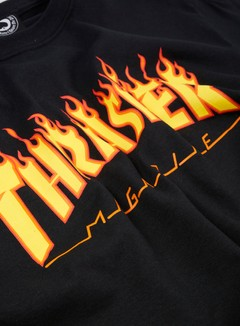 Thrasher - Flame Logo T-shirt, Black 2