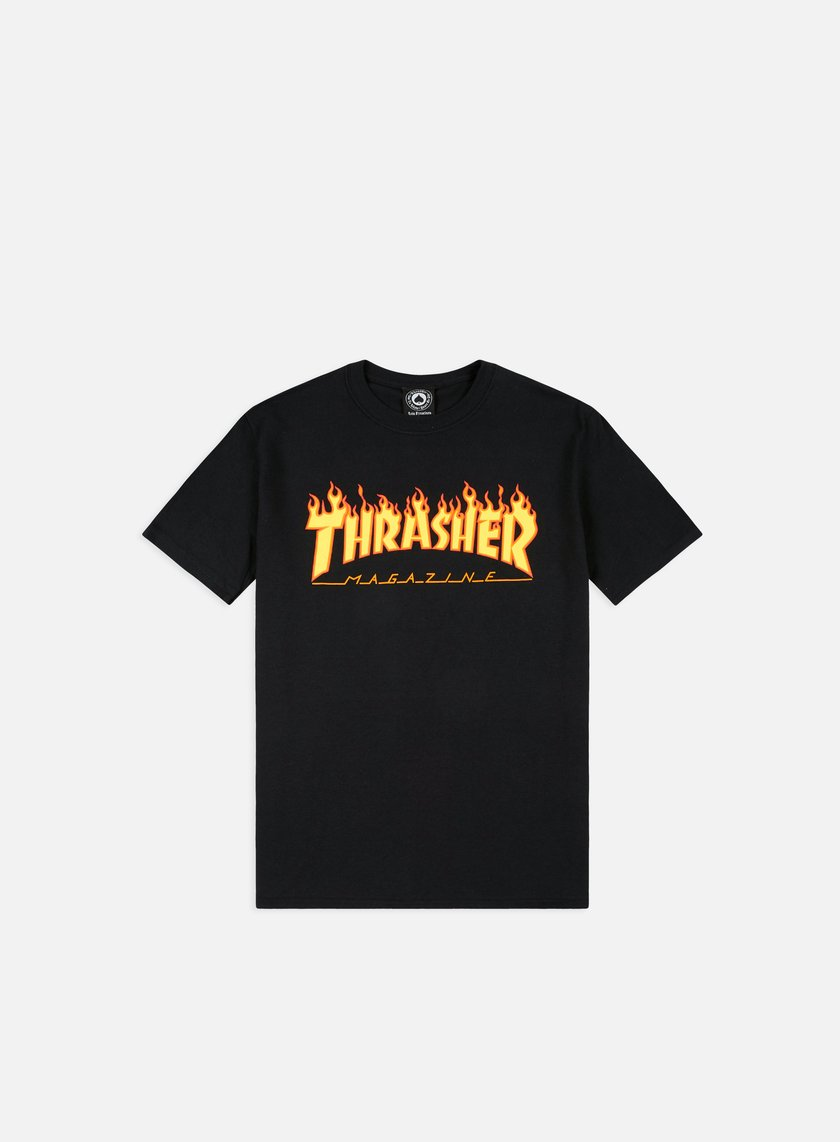 Thrasher - Flame Logo T-shirt, Black