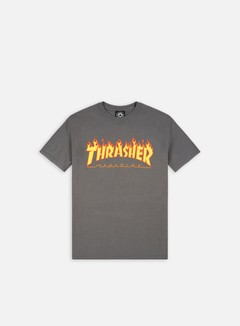 Thrasher - Flame Logo T-shirt, Charcoal Grey