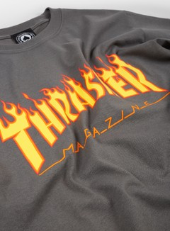Thrasher - Flame Logo T-shirt, Charcoal Grey 2