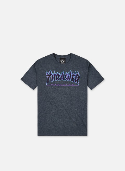 t shirt thrasher flame logo t shirt dark heather