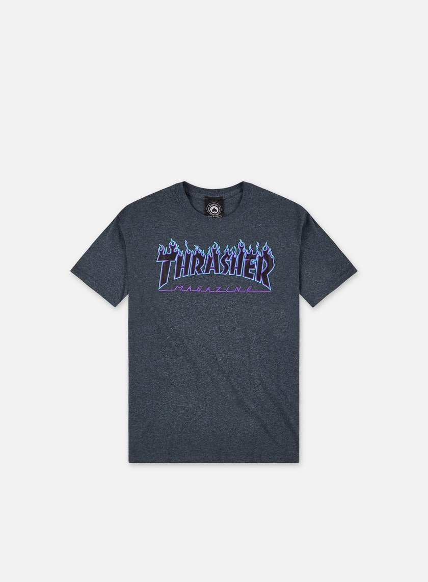 Thrasher - Flame Logo T-shirt, Dark Heather