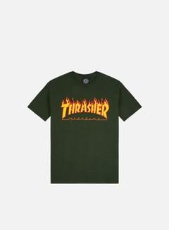 Thrasher - Flame Logo T-shirt, Forest Green
