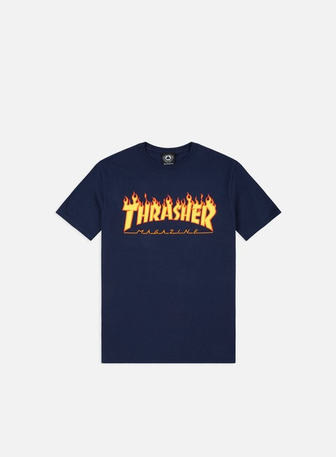 t shirt thrasher flame logo t shirt navy