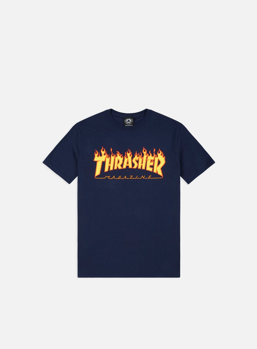 Thrasher - Flame Logo T-shirt, Navy