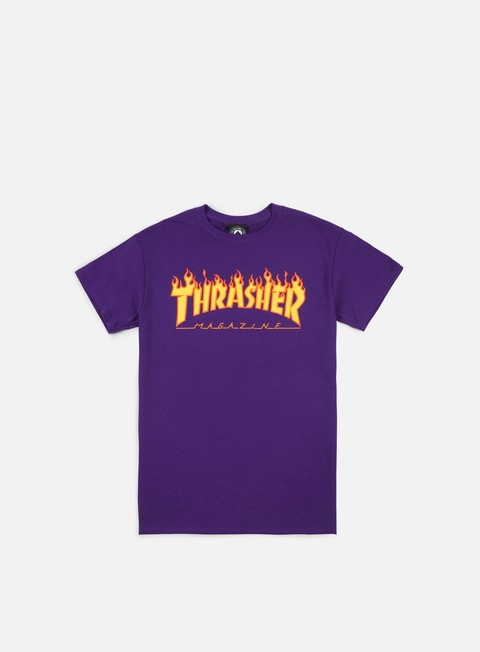 t shirt thrasher flame logo t shirt purple