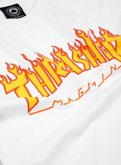 Thrasher - Flame Logo T-shirt, White 2