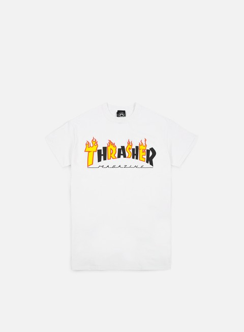 t shirt thrasher flame mag t shirt white