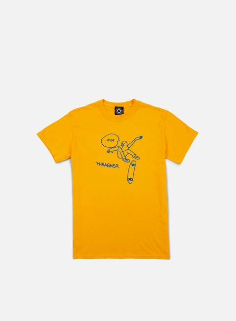 t shirt thrasher kcuf t shirt gold yellow