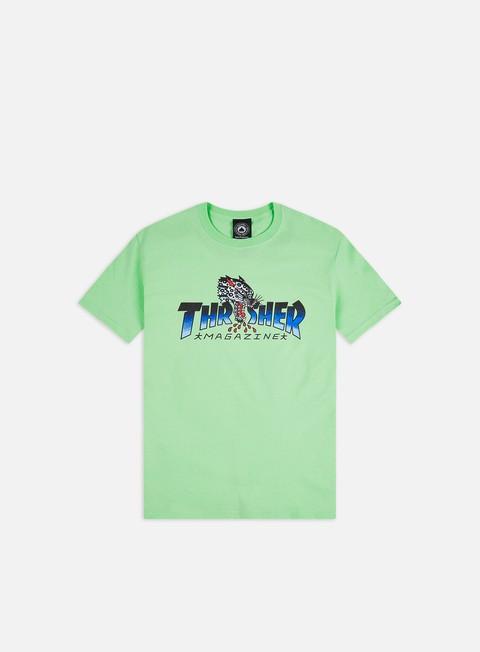 Outlet e Saldi T-shirt a Manica Corta Thrasher Leopard Mag T-shirt