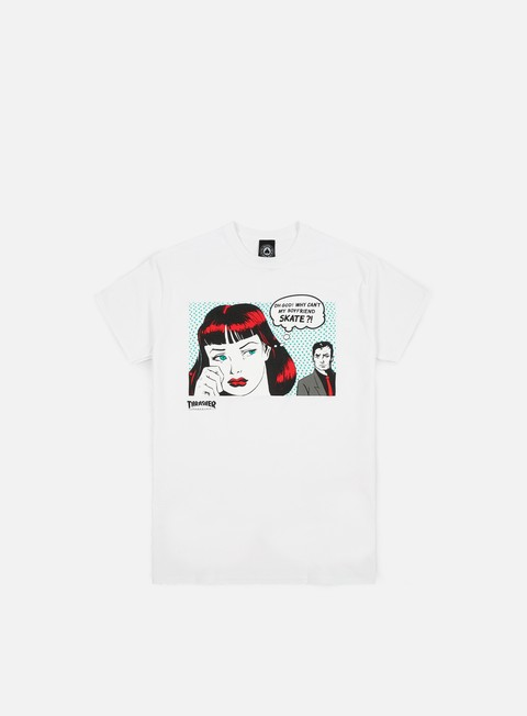 Outlet e Saldi T-shirt a Manica Corta Thrasher New Boyfriend T-shirt