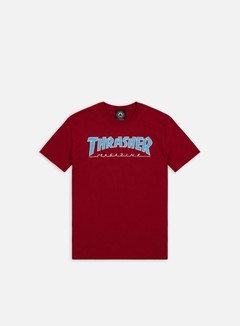 Thrasher - Outlined T-shirt, Cardinal
