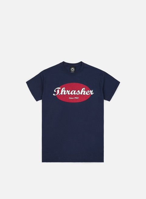 t shirt thrasher oval t shirt navy