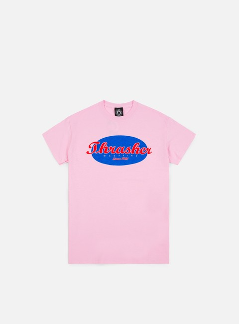 t shirt thrasher oval t shirt pink