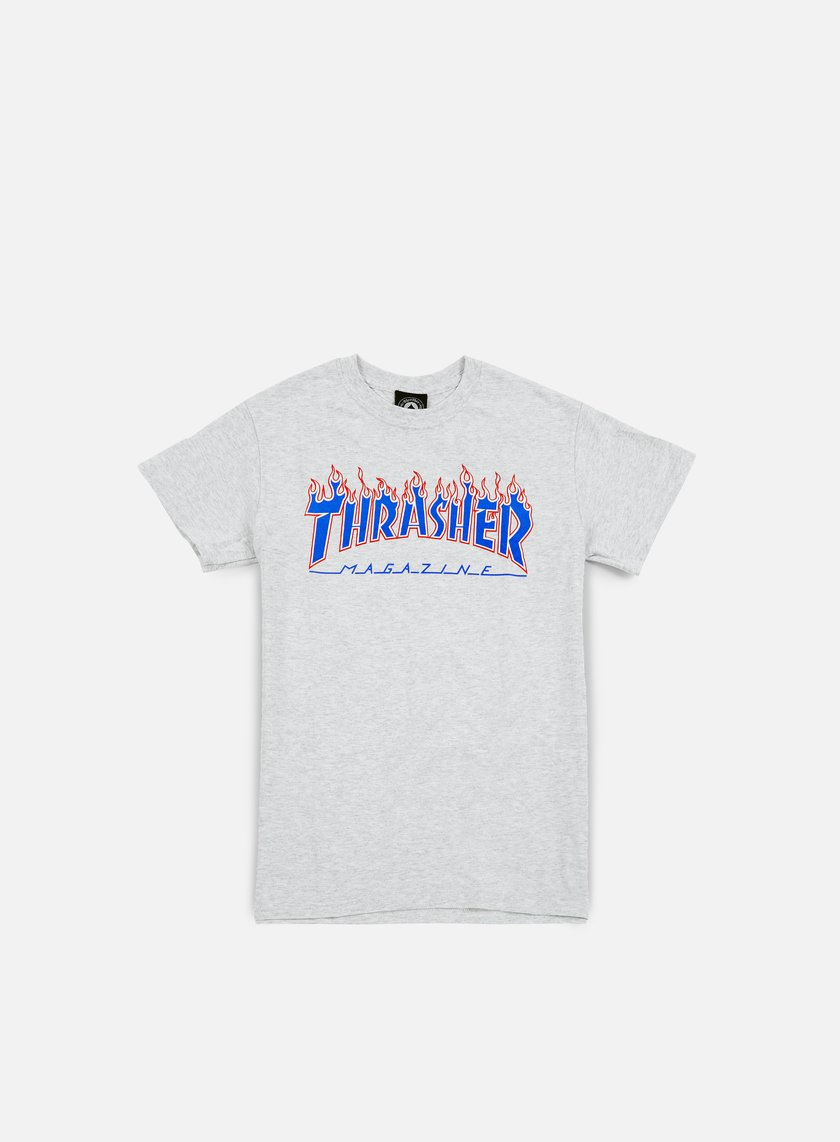 Thrasher - Patriot Flame T-shirt, Ash Grey