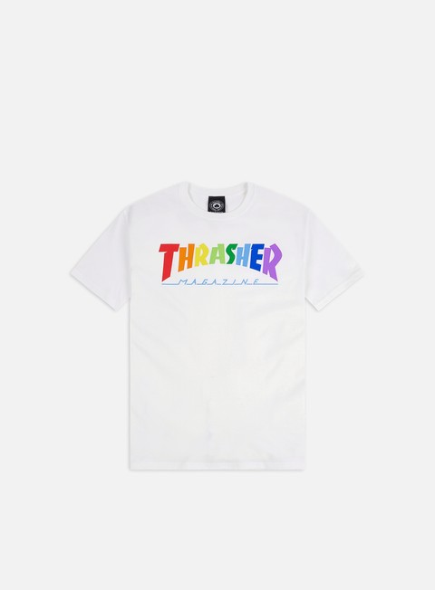 Short Sleeve T-shirts Thrasher Rainbow Mag T-shirt