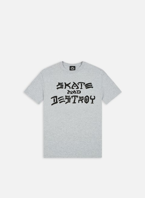 t shirt thrasher skate e destroy t shirt grey