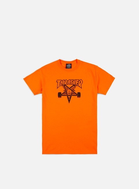 t shirt thrasher skate goat t shirt safety orange