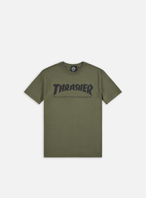 t shirt thrasher skatemag t shirt army black