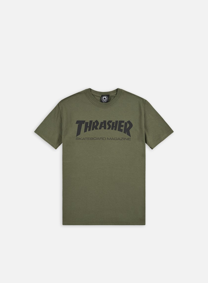 Thrasher - Skatemag T-shirt, Army/Black