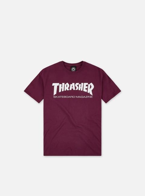 t shirt thrasher skatemag t shirt maroon white
