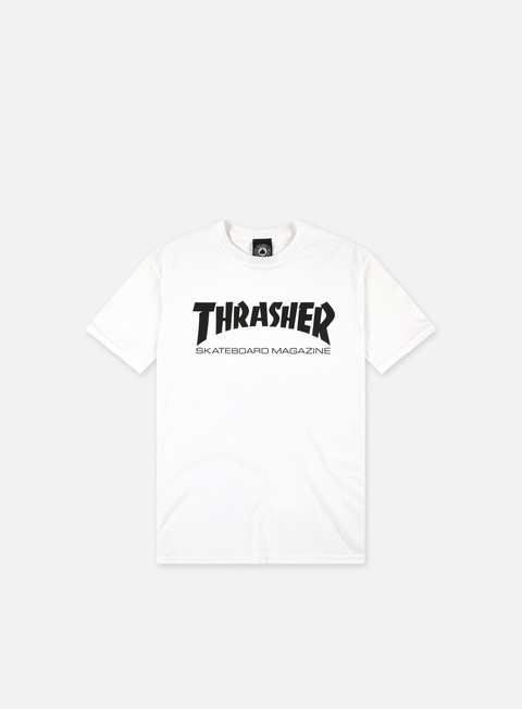 t shirt thrasher skatemag t shirt white black