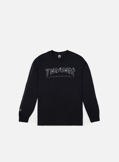 Thrasher - Thrasher Web LS T-shirt, Black 1