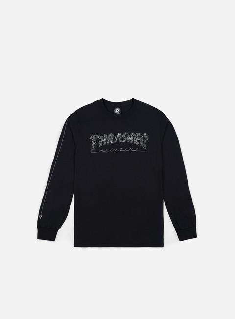 T-shirt a manica lunga Thrasher Thrasher Web LS T-shirt
