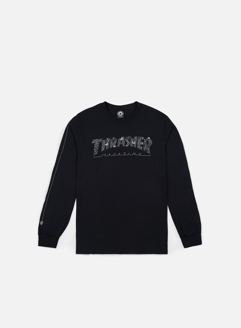 Thrasher - Thrasher Web LS T-shirt, Black