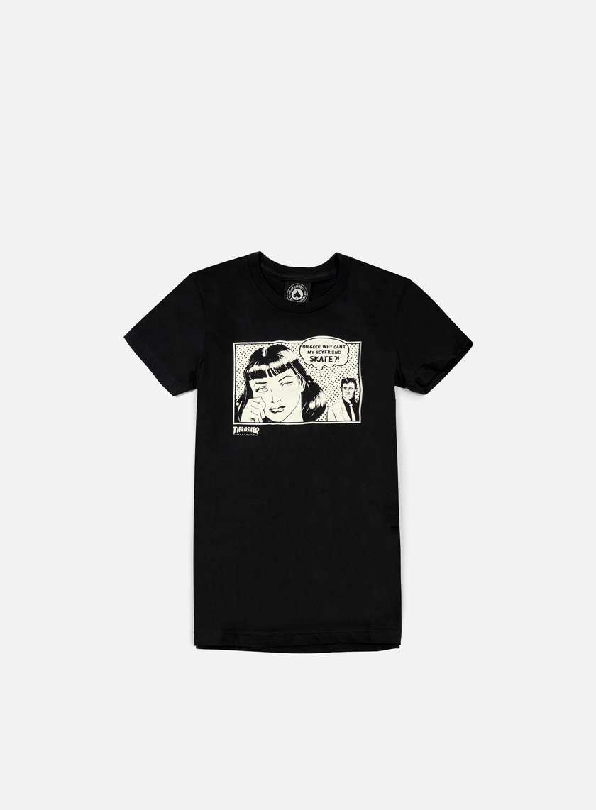 Thrasher - WMNS Boyfriend T-shirt, Black
