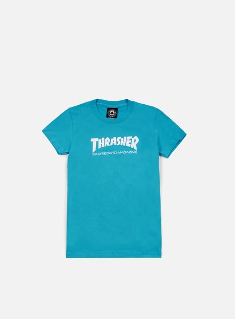 t shirt thrasher wmns skatemag logo t shirt teal