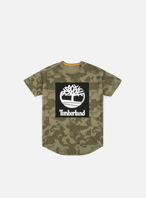 Sale Outlet Short Sleeve T-shirts Timberland Camo T-shirt