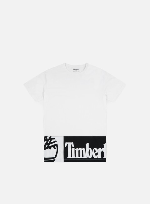 t shirt timberland elongated logo t shirt white