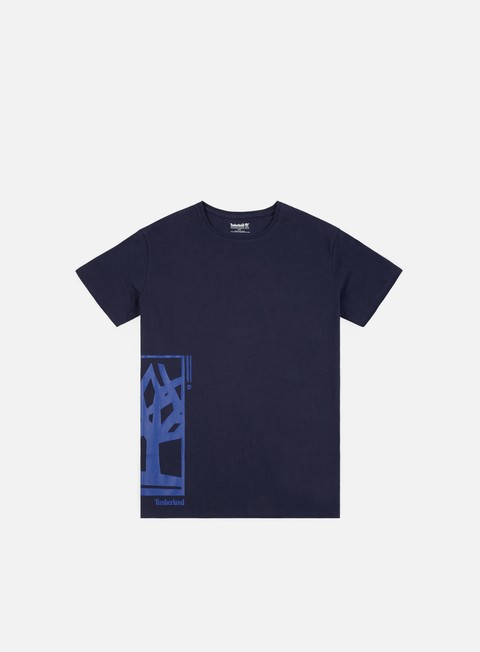 t shirt timberland elongated tree logo t shirt black iris