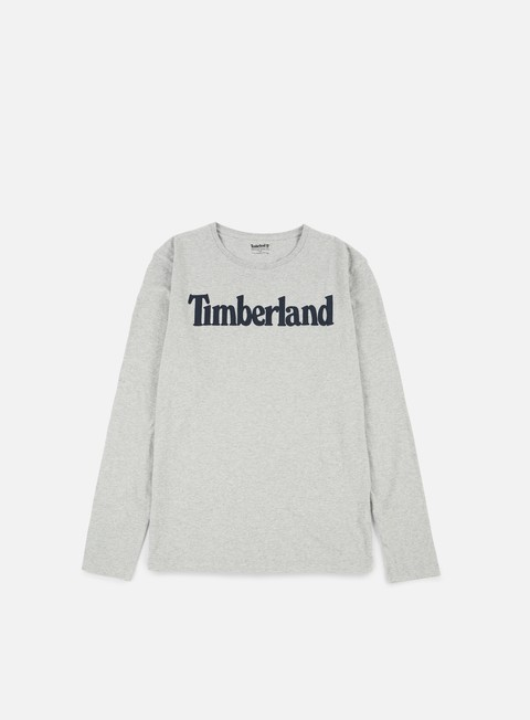 t shirt timberland linlogo ls t shirt medium grey heather