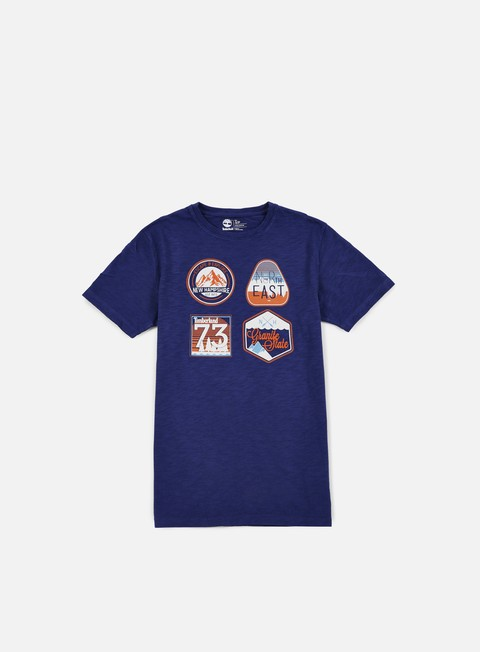 t shirt timberland multigraphic heritage t shirt blue print