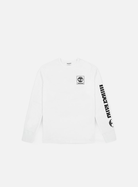 t shirt timberland seasonal logo ls t shirt white
