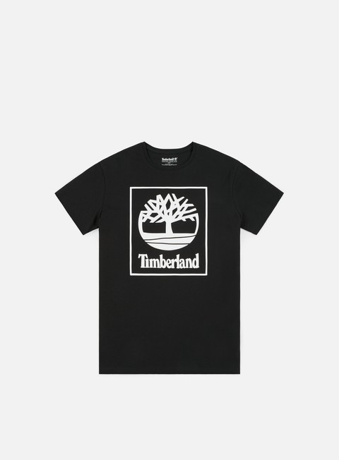 t shirt timberland seasonal logo t shirt black