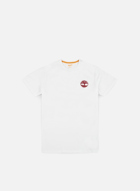 t shirt timberland stacked t shirt white