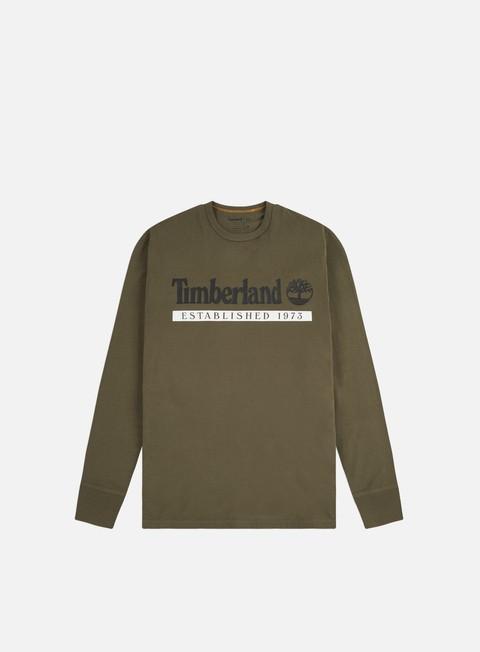 Outlet e Saldi T-shirt a Manica Lunga Timberland YC Established 1973 LS T-shirt