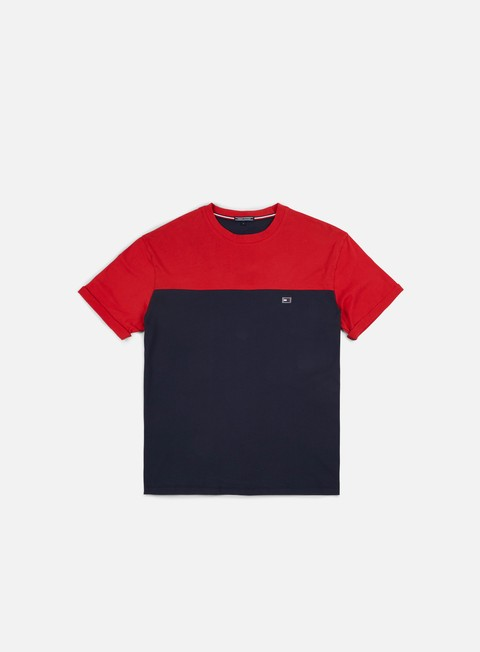 t shirt tommy hilfiger block t shirt navy blazer tango red