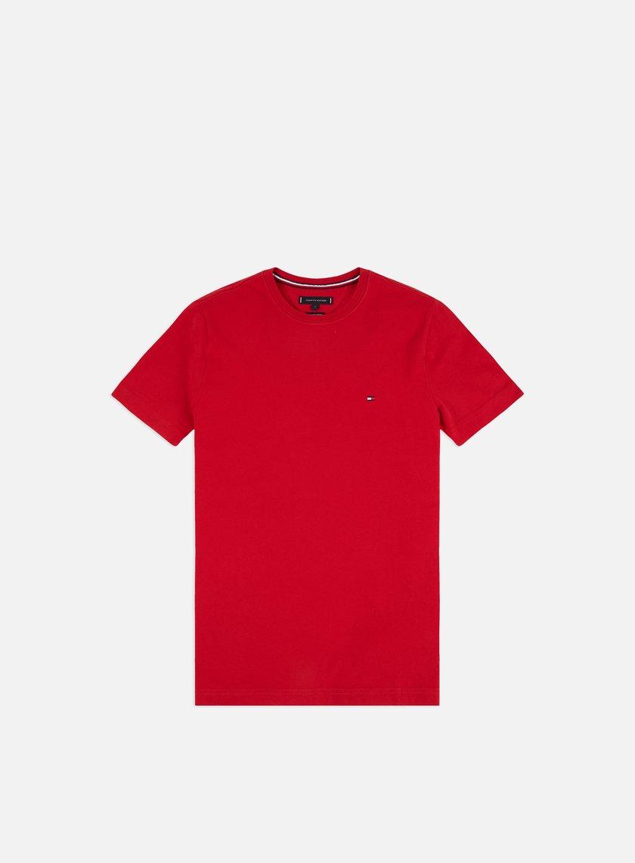Tommy T Corta Hilfiger Essential shirt A Da Uomo Cotton Manica FKJlc1