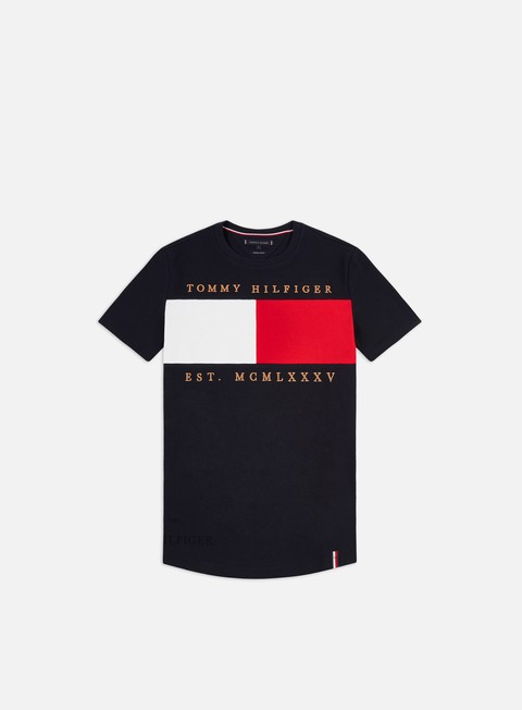Outlet e Saldi T-shirt a Manica Corta Tommy Hilfiger Flag Chest Embroidery Relaxed T-shirt
