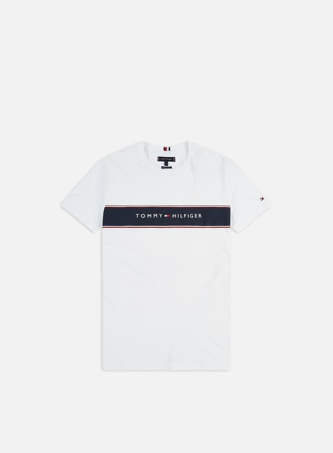 Sale Outlet Short Sleeve T-shirts Tommy Hilfiger Logo Chest Stripe T-shirt