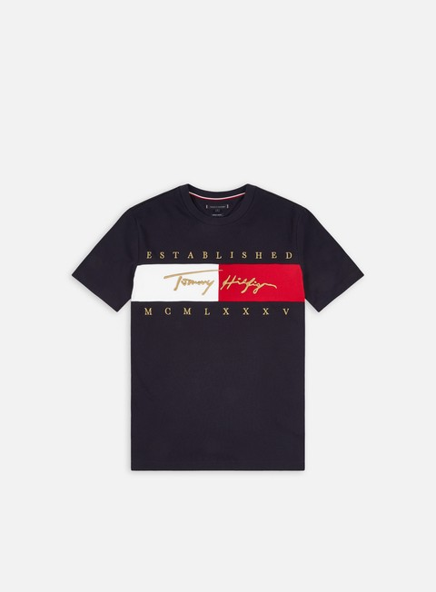 T-shirt a Manica Corta Tommy Hilfiger Signature Flag Relaxed Fit T-shirt