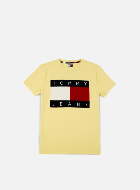 t shirt tommy hilfiger tj 90s flock t shirt lemon meringue